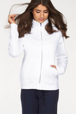 fruit of the loom sweatshirt »lady-fit premium sweat jacket« wit