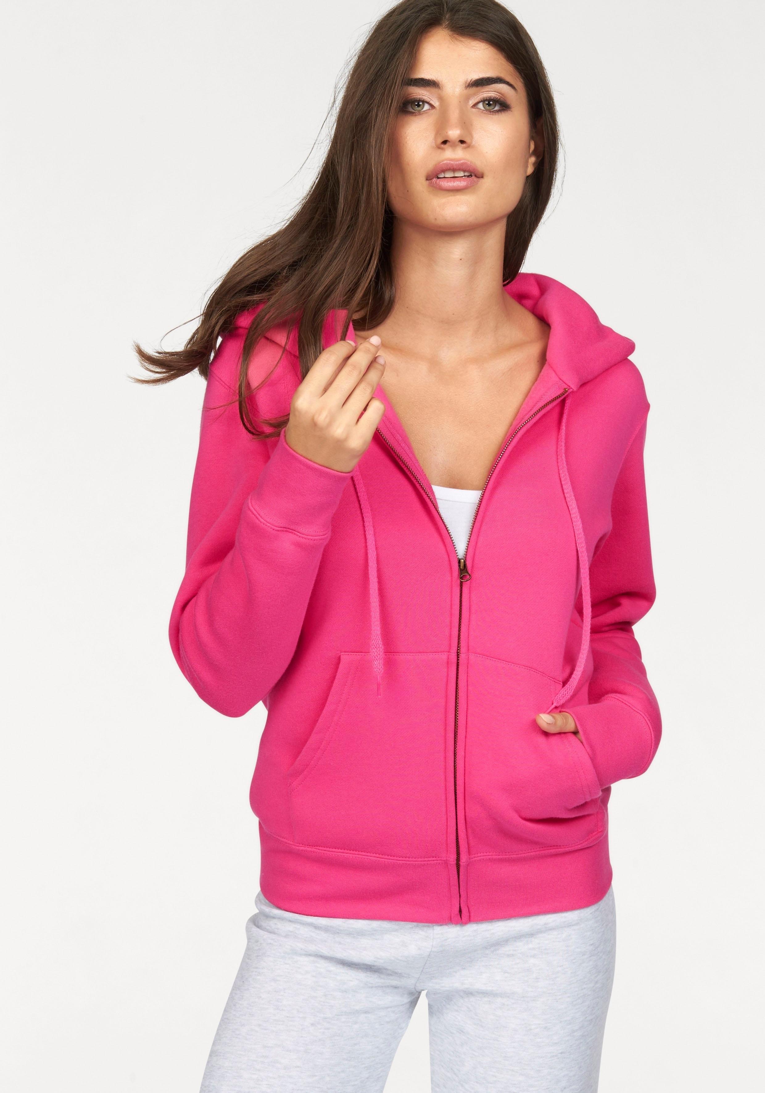 Fruit Of The Loom capuchonsweatshirt »Lady-Fit Premium hooded Sweat Jacket« goedkoop op otto.nl kopen