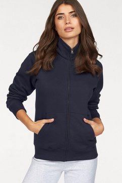 fruit of the loom sweatshirt »lady-fit premium sweat jacket« blauw