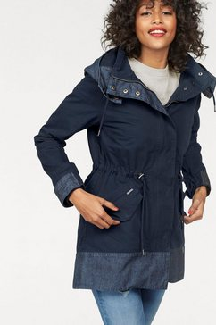 pepe jeans parka »perin« blauw