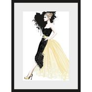 leonique poster »schets dress«, 30x40 cm zwart