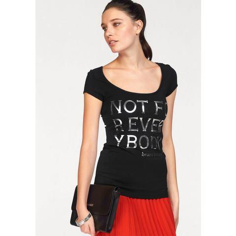 BRUNO BANANI T-shirt met zilverprint