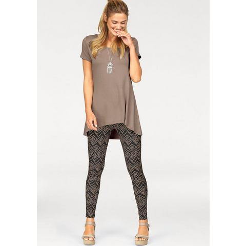 NU 15% KORTING: FLASHLIGHTS lang shirt »achter iets langer« (set met legging)