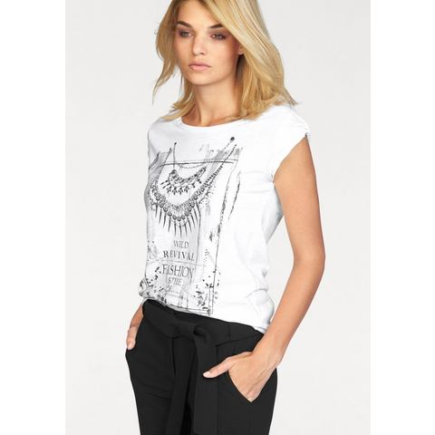 LAURA SCOTT Shirt met siersteentjes voor