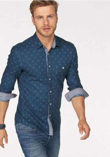 TOM TAILOR DENIM overhemd met lange mouwen