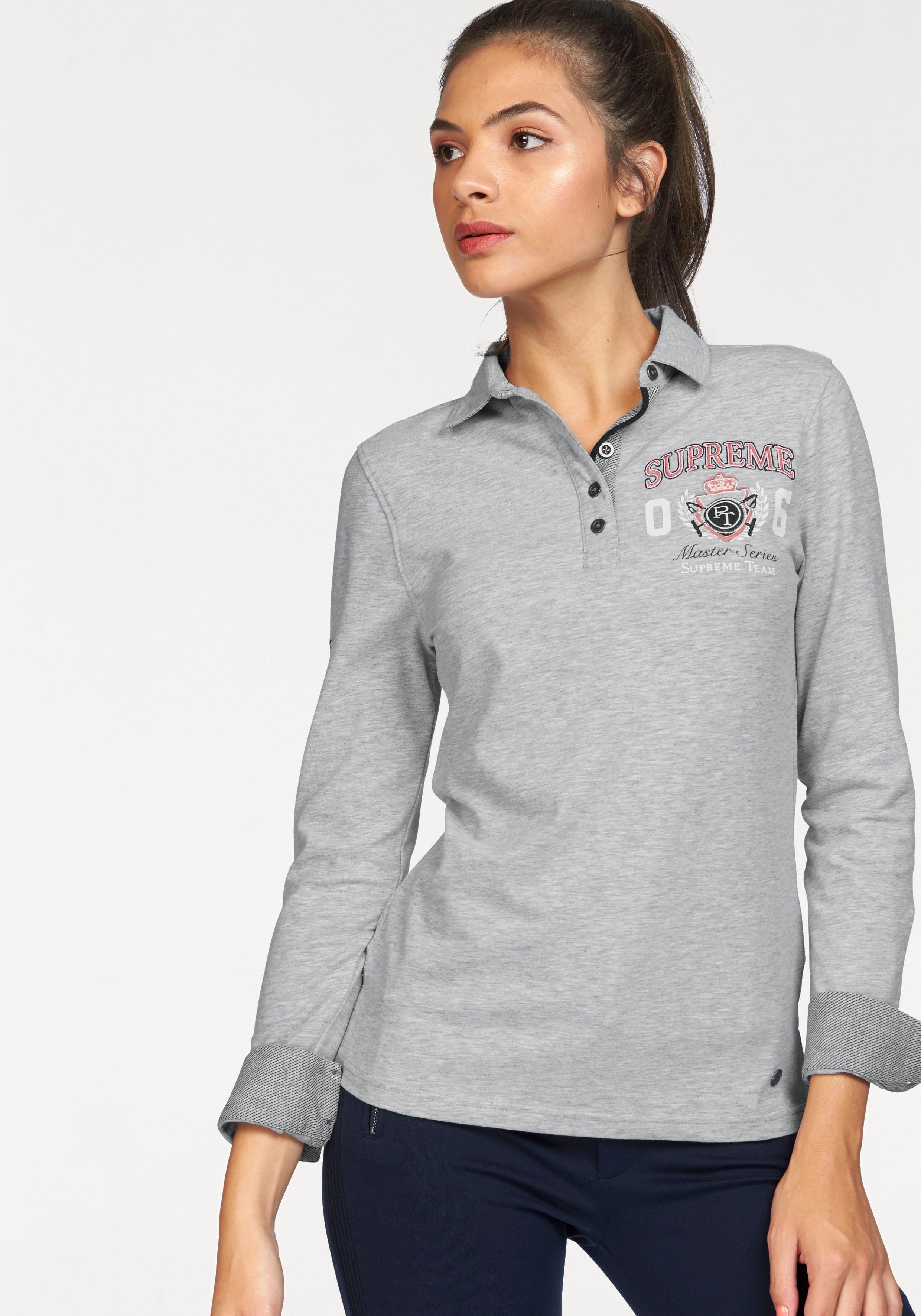 Tom Tailor Polo Team shirt met lange mouwen in de webshop van OTTO kopen