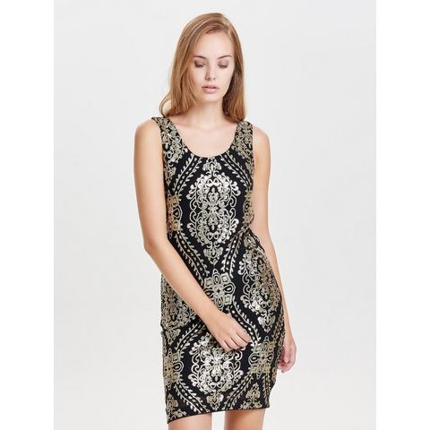 Picture Only Pailletten Mouwloze jurk zwart 364038