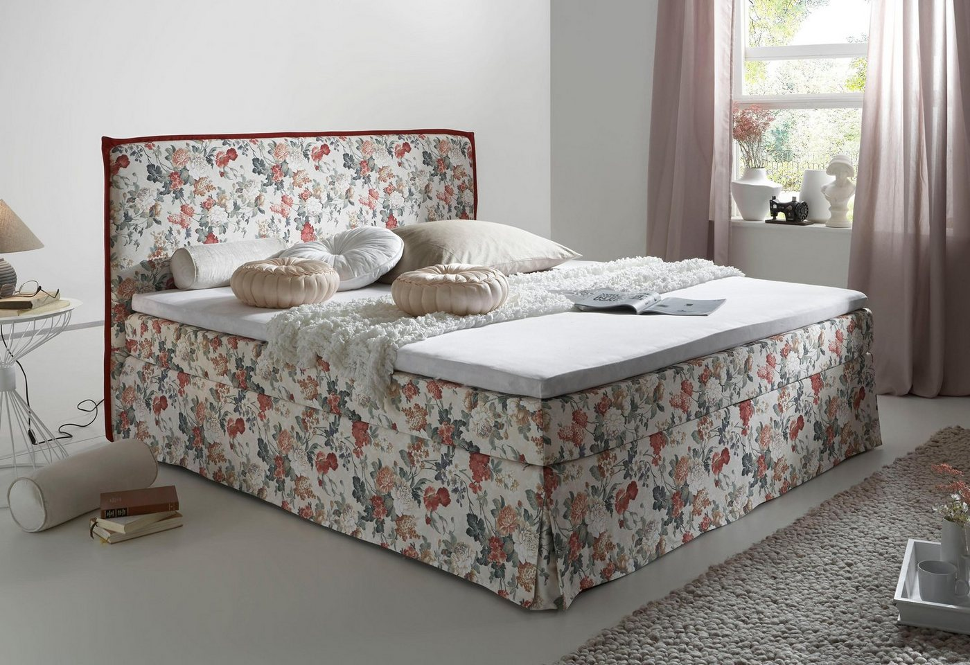 HOME AFFAIRE boxspring Alice, in hoezen-look, incl. topmatras