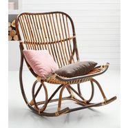sit schommelstoel vintage met de hand gemaakt bruin