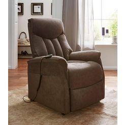 duo collection relaxfauteuil xxl, met opstahulp, belastbaar tot 150 kg bruin