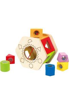hape vormenspel sorteerbox shake en match multicolor