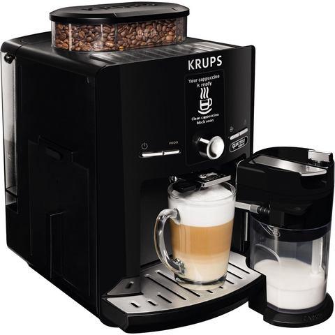Krups volautomatisch koffiezetapparaat Latt'Espress Quattro Force EA82F8, melkreservoir, zwart