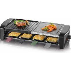 severin raclette rg 9645 raclette pannetje met gekleurde grepen zwart