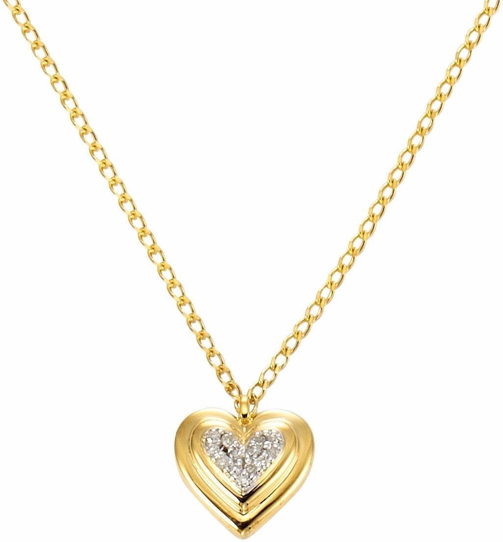 Firetti ketting met hanger Hart met diamanten goedkoop op otto.nl kopen