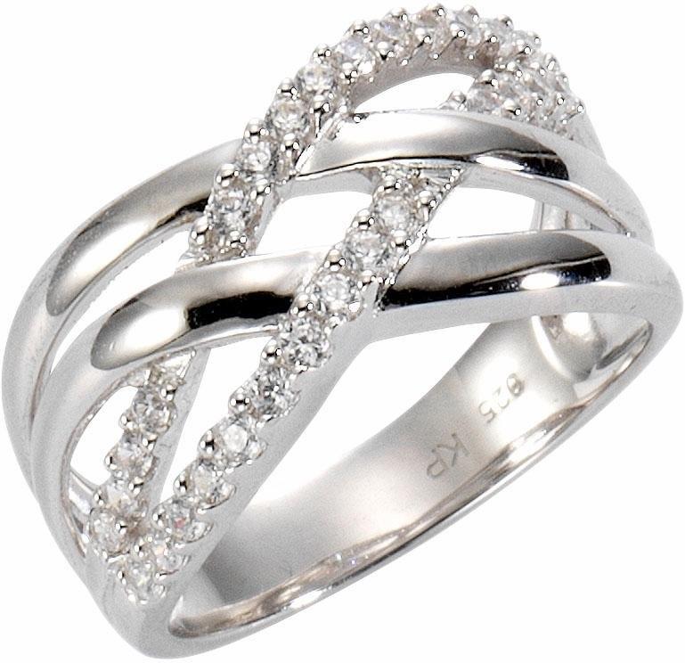 Firetti zilveren ring Verstrengeld, ca. 11,0 mm breed met zirkoon veilig op otto.nl kopen