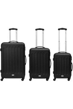 packenger harde trolleyset met 4 wieltjes, »travelstar« (3-dlg.) zwart