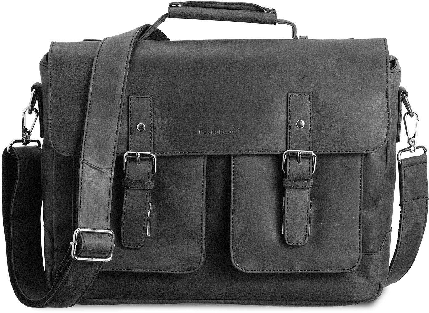 Packenger schoudertas met 15-inch-laptopvak, »Kolbjorn, zwart« nu online kopen bij OTTO