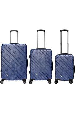 packenger harde trolleyset met 4 wieltjes, »vertical« (3-dlg.) blauw