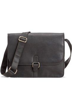 packenger schoudertas met 14-inch-laptopvak, »aslang, zwart« zwart