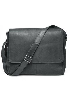 packenger messengerbag met laptopvak (15 inch), »vethorn, zwart« zwart