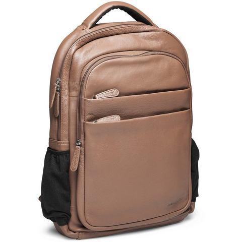 Packenger rugzak met laptopvak (15 inch), Kjaran, lichtbruin