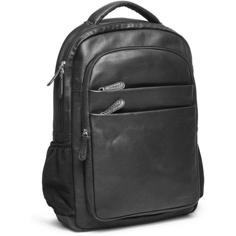 Packenger rugzak met laptopvak (15 inch), Kjaran, zwart