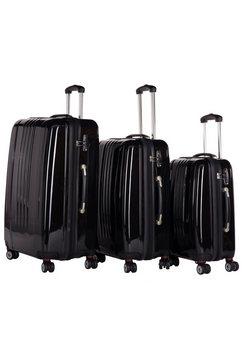 packenger harde trolleyset met 4 wieltjes, »stone« (3-dlg.) zwart