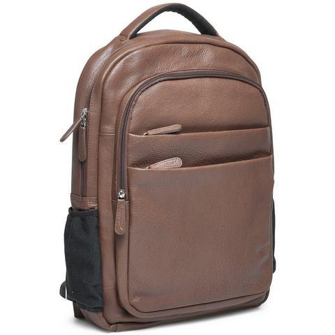 Packenger rugzak met laptopvak (15 inch), Kjaran, bruin