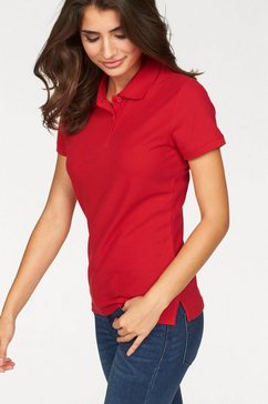 fruit of the loom poloshirt lady-fit premium polo rood