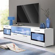 helvetia meble tv-meubel sarah mix breedte 182 cm wit