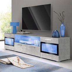 trendmanufaktur tv-meubel sarah breedte 182 cm grijs