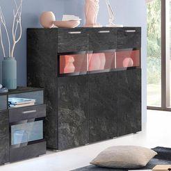 trendmanufaktur highboard sarahmix breedte 136, 5 cm grijs