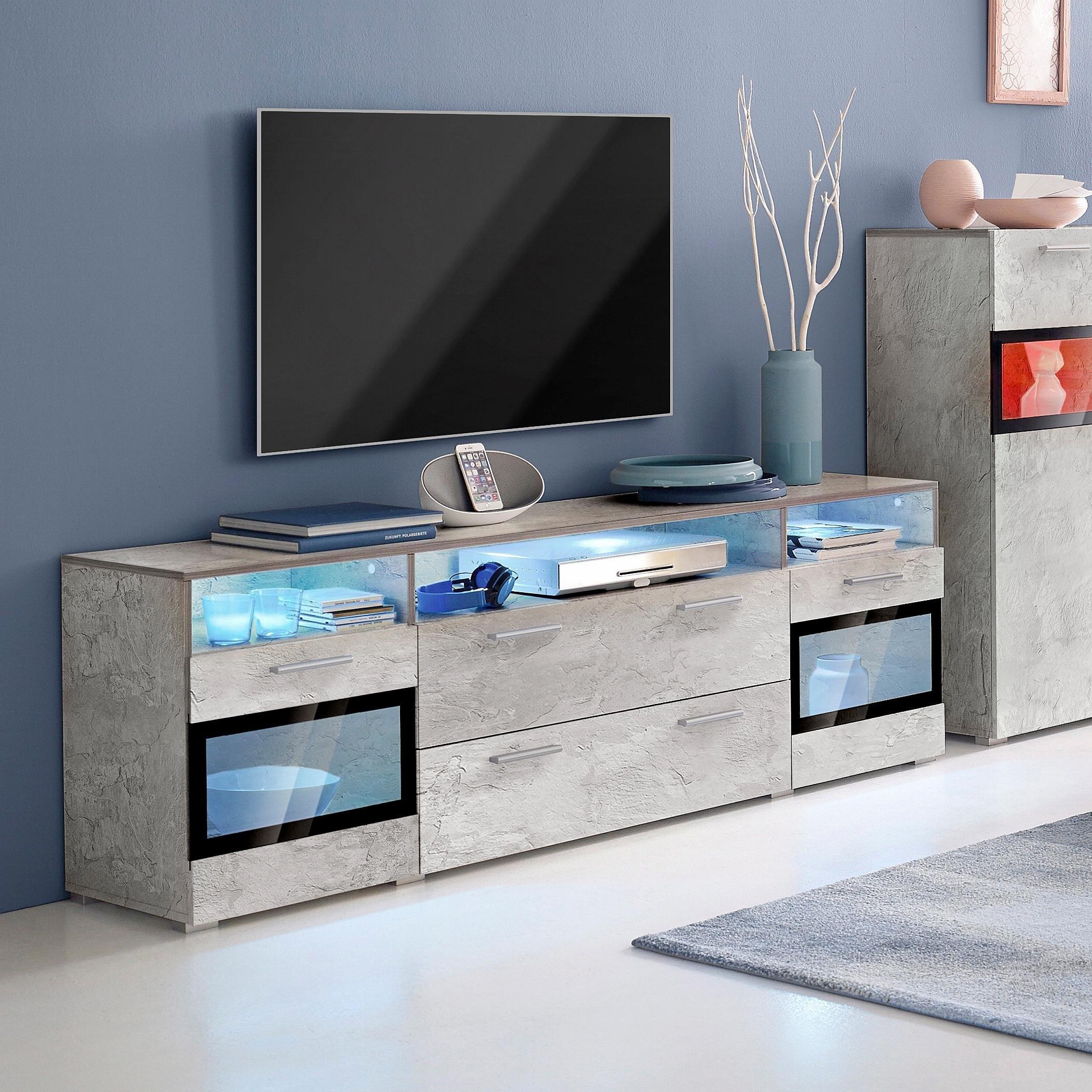 TRENDMANUFAKTUR Lowboard, breedte 182 cm voordelig en veilig online kopen