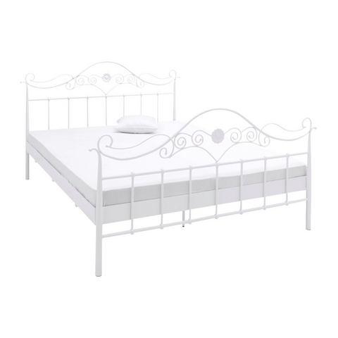 Metalen Bed wit wit heine 6326