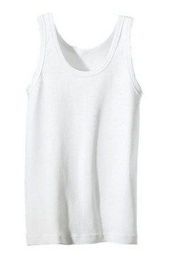 uniseks-onderhemd wit
