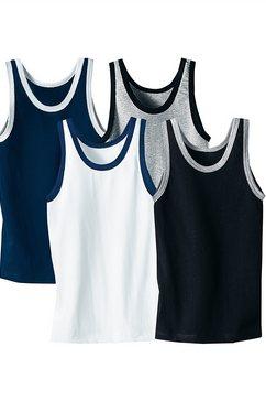 authentic underwear hemd met contrastkleurige randafwerkingen (4 stuks) zwart