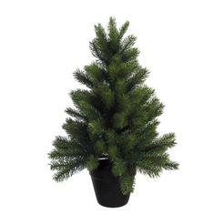 premium-kunstkerstboom met zwarte kunststof pot groen