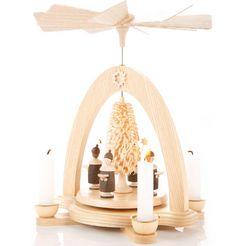albin preissler kerstpiramide made in germany beige