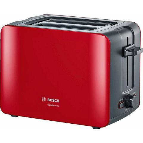 Bosch BOSCH compacte toaster ComfortLine, rood/antraciet TAT6A114 van 'The Taste'