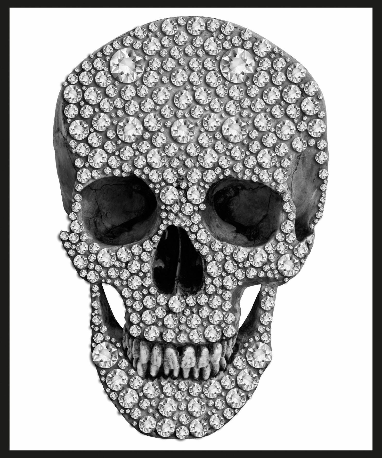 Home affaire wanddecoratie Skull 50/60 cm, ingelijst nu online kopen bij OTTO