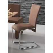 steinhoff vrijdragende stoel (set van 2) bruin