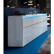 tecnos dressoir magic breedte 240 cm, zonder verlichting wit