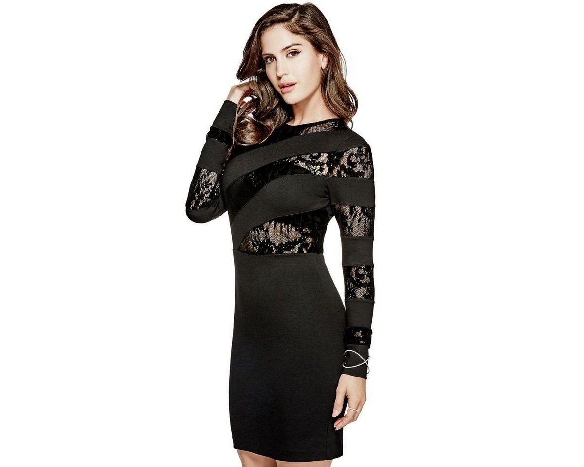 Guess jurk kanten detail zwart
