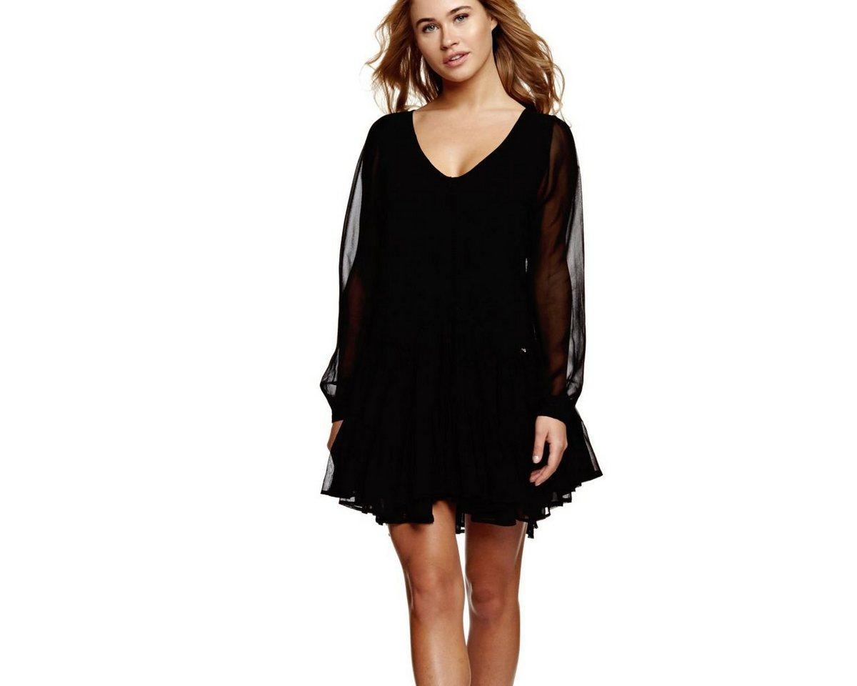 Guess jurk met volants zwart
