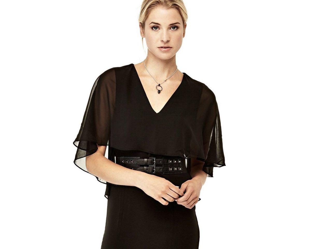 Guess jurk met riem zwart