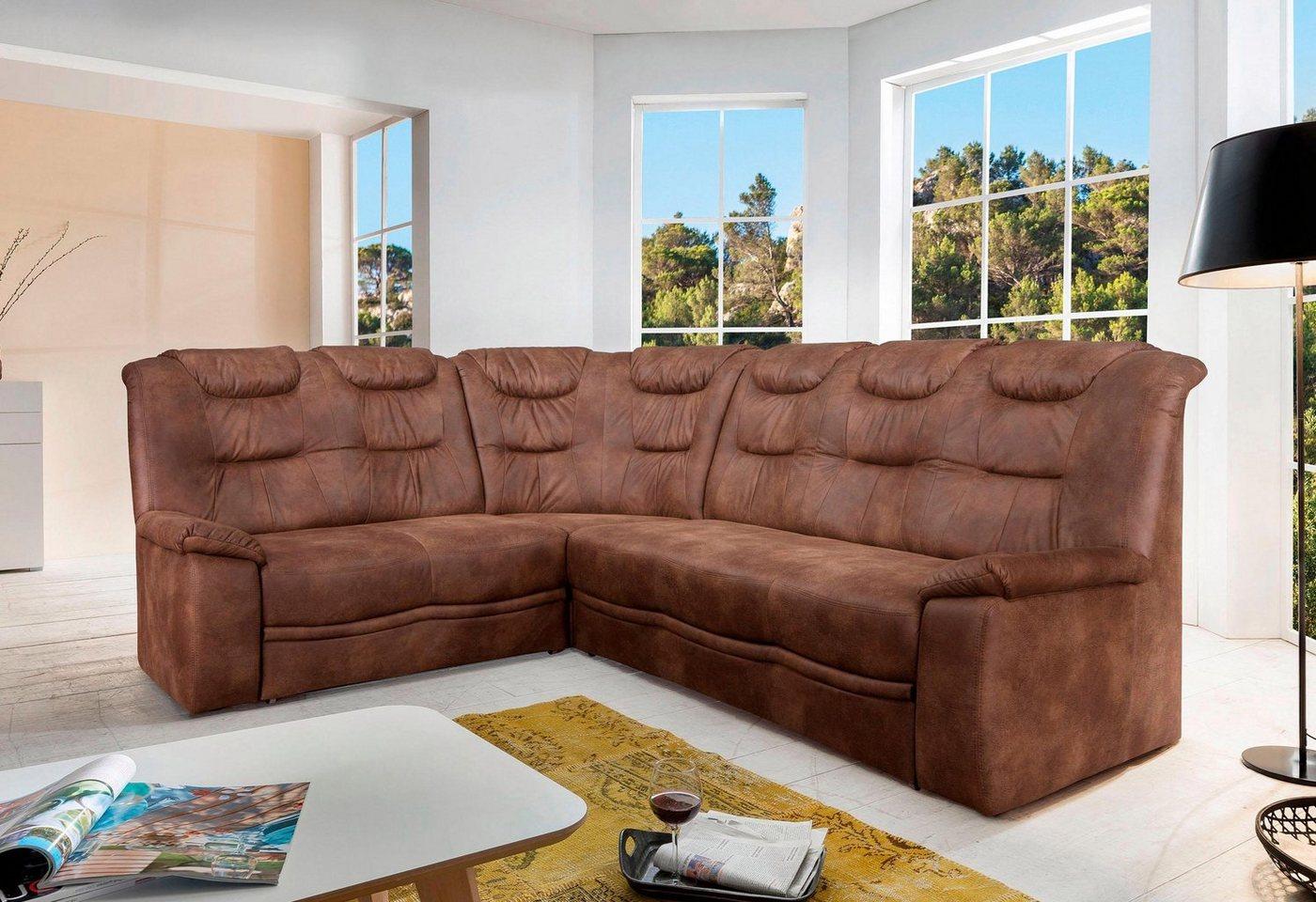 HOME AFFAIRE hoekbank Grande, in een klassiek design, met binnenvering, slaapfunctie + bedkist