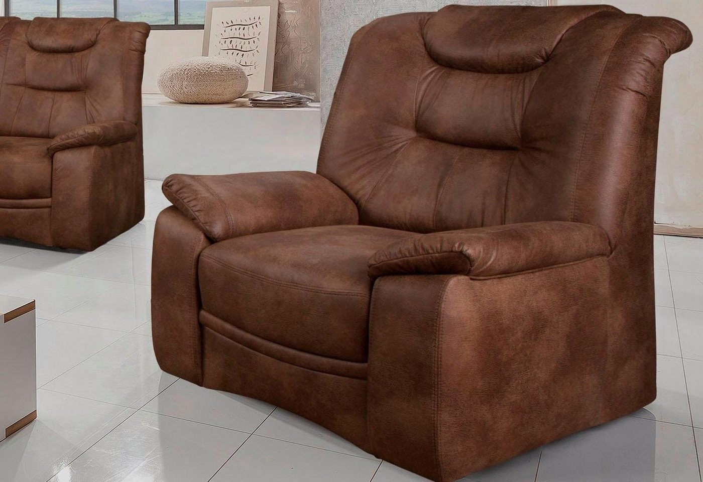 HOME AFFAIRE fauteuil Grande, in een klassiek design, met binnenvering
