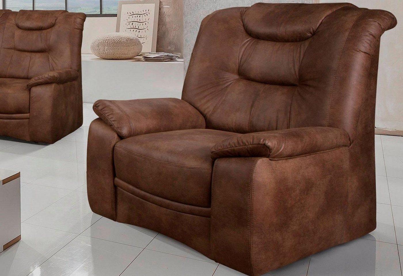HOME AFFAIRE fauteuil Grande, in een klassiek design, met binnenvering
