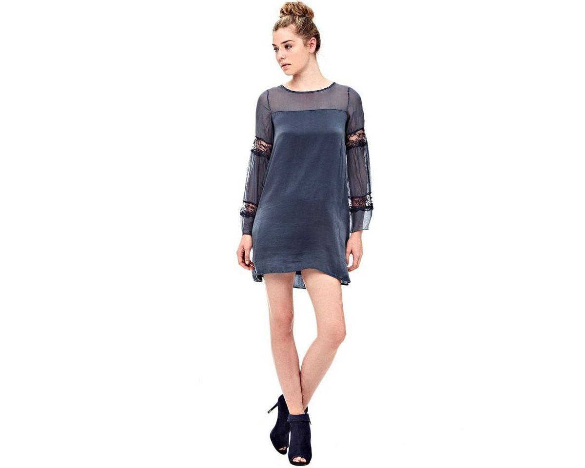 Guess jurk van zijde blauw