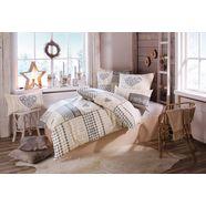 overtrekset, home affaire collection, »janina«, met patchworkdesign beige